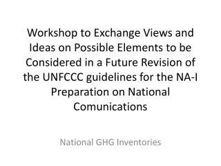 National GHG Inventories
