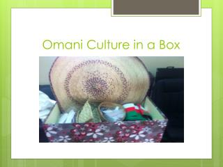 Omani Culture in a Box