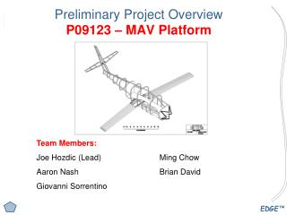 Preliminary Project Overview P09123 – MAV Platform