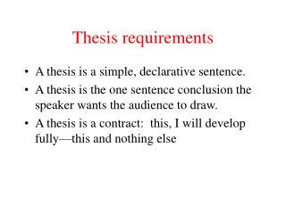 Thesis requirements