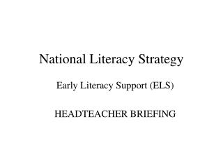 National Literacy Strategy
