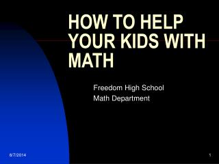 HOW TO HELP YOUR KIDS WITH MATH