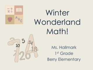 Winter Wonderland Math!
