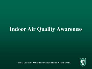 Indoor Air Quality Awareness
