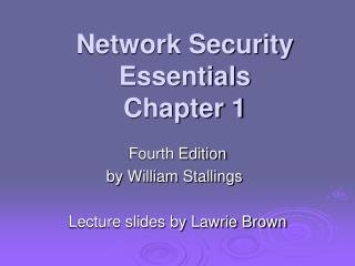 Network Security Essentials Chapter 1