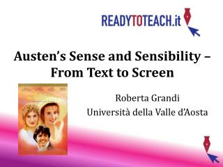 Austen's Sense and Sensibility – From Text to Screen