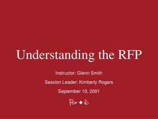 Understanding the RFP
