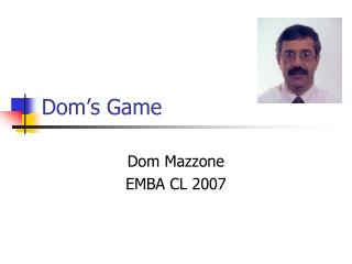 Dom's Game