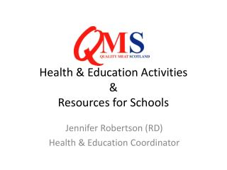 Health & Education Activities & Resources for Schools