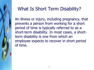What Is Short Term Disability?