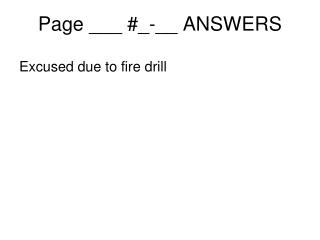 Page ___ #_-__ ANSWERS
