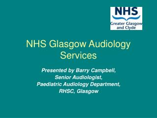 NHS Glasgow Audiology Services