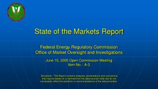 State of the Markets Report examines energy market activity in 2004