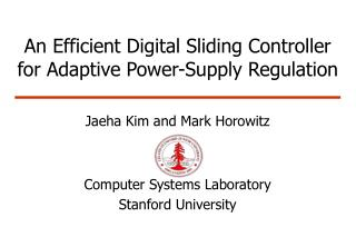 An Efficient Digital Sliding Controller for Adaptive Power-Supply Regulation