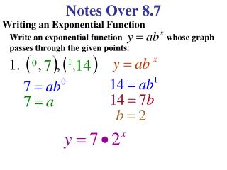 Notes Over 8.7