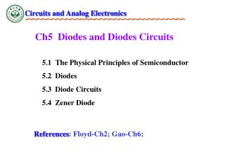 Ch5  Diodes and Diodes Circuits