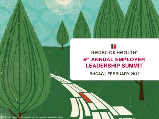 5 th  ANNUAL EMPLOYER LEADERSHIP SUMMIT