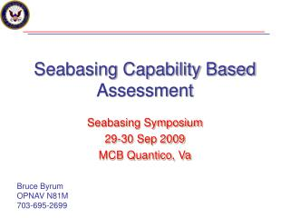 Seabasing Capability Based Assessment