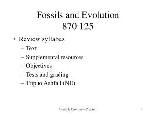 Fossils and Evolution 870:125