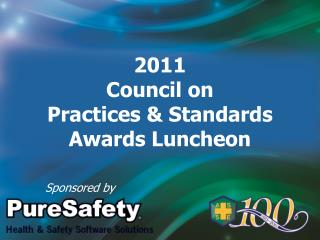 2011 Council on  Practices & Standards Awards Luncheon