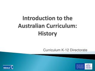 Introduction to the  Australian Curriculum: History
