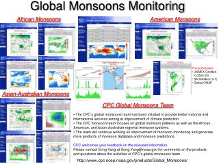 Global Monsoons Monitoring