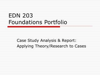 EDN 203 Foundations Portfolio
