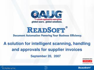 A solution for intelligent scanning, handling and approvals for supplier invoices