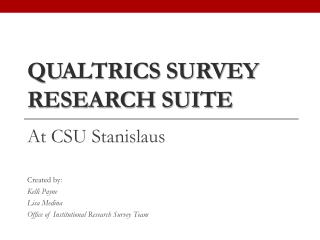 Qualtrics Survey Research Suite