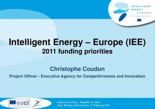 Intelligent Energy   Europe IEE 2011 funding priorities