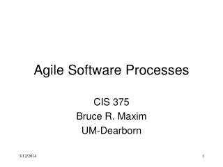 Agile Software Processes