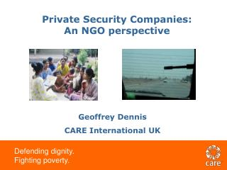 Private Security Companies: An NGO perspective