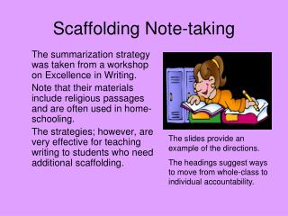 Scaffolding Note-taking