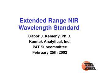 Extended Range NIR Wavelength Standard