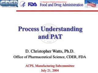 Process Understanding and PAT