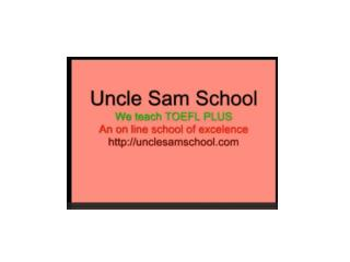 Uncle Sam School of English Learn English Online