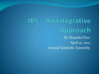 IBS – An Integrative Approach