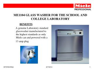 ME1104 GLASS WASHER FOR THE SCHOOL AND COLLEGE LABORATORY