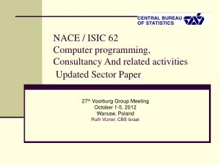 NACE / ISIC 62  Computer programming,  Consultancy And related activities   Updated Sector Paper