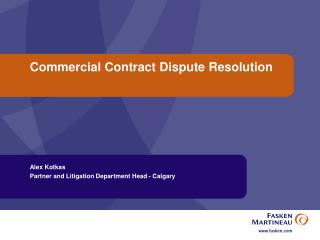 Commercial Contract Dispute Resolution