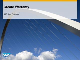 Create Warranty