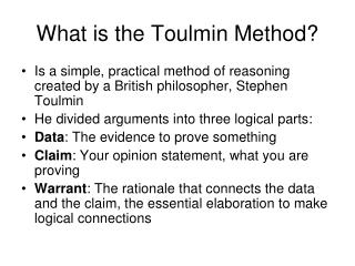 What is the Toulmin Method?