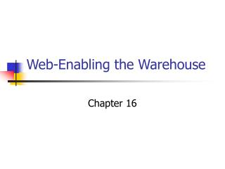 Web-Enabling the Warehouse