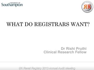WHAT DO REGISTRARS WANT?