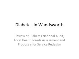 Diabetes in Wandsworth
