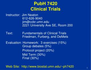 PubH  7420 Clinical Trials