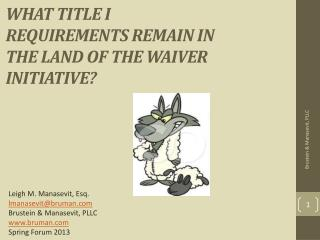 What Title I Requirements Remain in the Land of the Waiver Initiative?