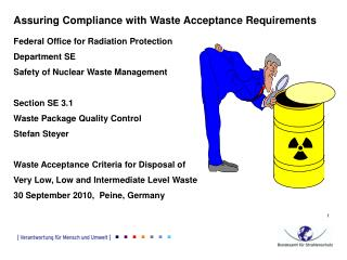 Assuring Compliance with Waste Acceptance Requirements