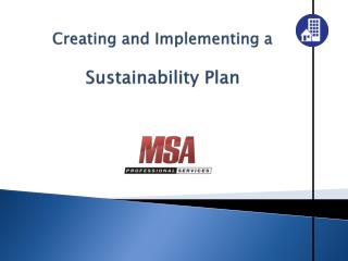 Creating and Implementing a Sustainability Plan
