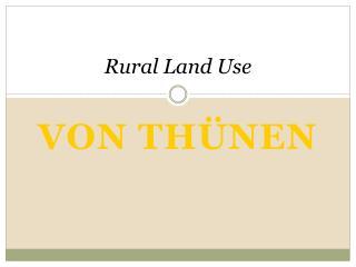 Rural Land Use